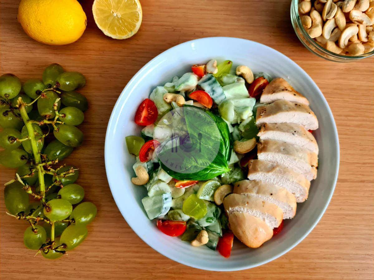 Chicken, Grape & Cucumber Salad